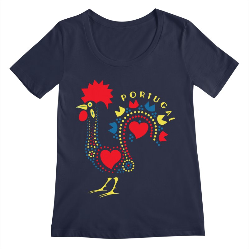 Magic Rooster Women's Regular Scoop Neck by Synner Design