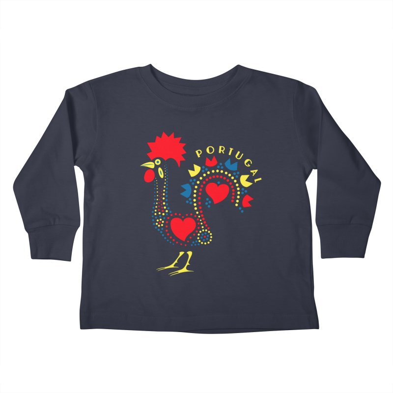 Magic Rooster Kids Toddler Longsleeve T-Shirt by Synner Design
