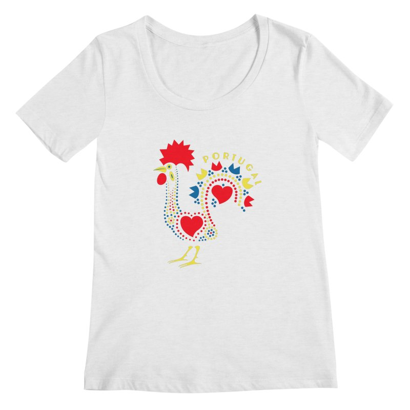 Magic Rooster Women's Regular Scoop Neck by Synner Design