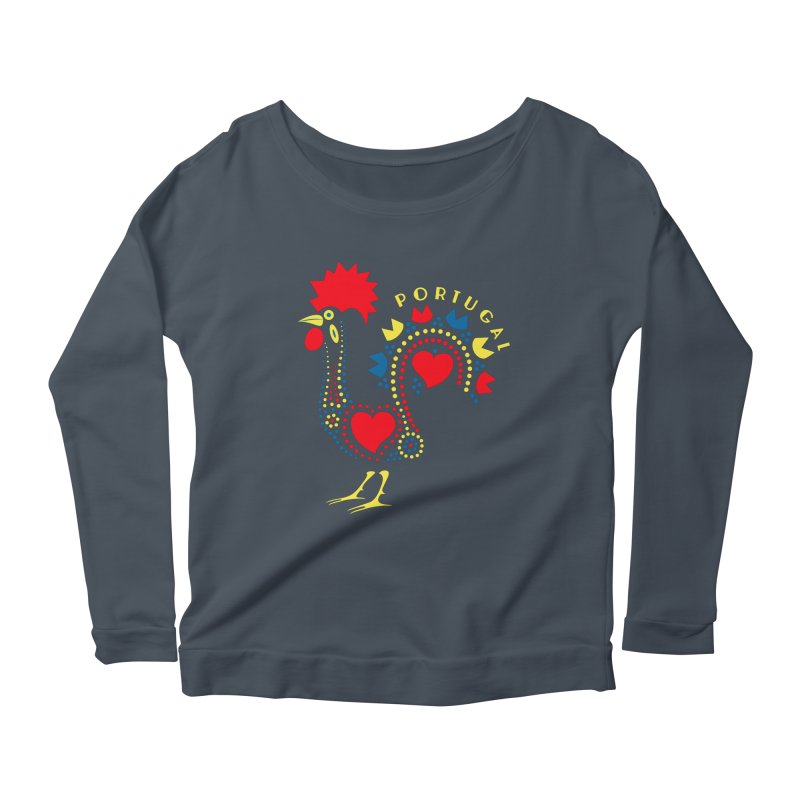 Magic Rooster Women's Longsleeve Scoopneck  by Synner Design