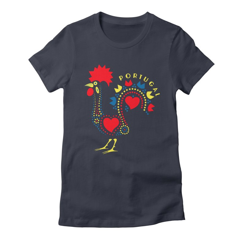 Magic Rooster Women's Fitted T-Shirt by Synner Design