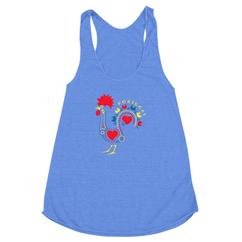 Magic Rooster Women's Racerback Triblend Tank by Synner Design