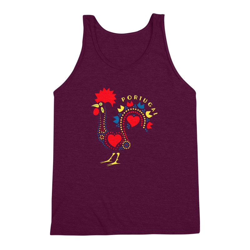Magic Rooster Men's Triblend Tank by Synner Design