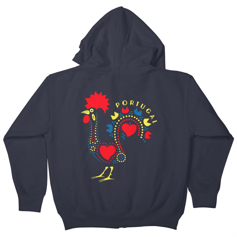 Magic Rooster Kids Zip-Up Hoody by Synner Design