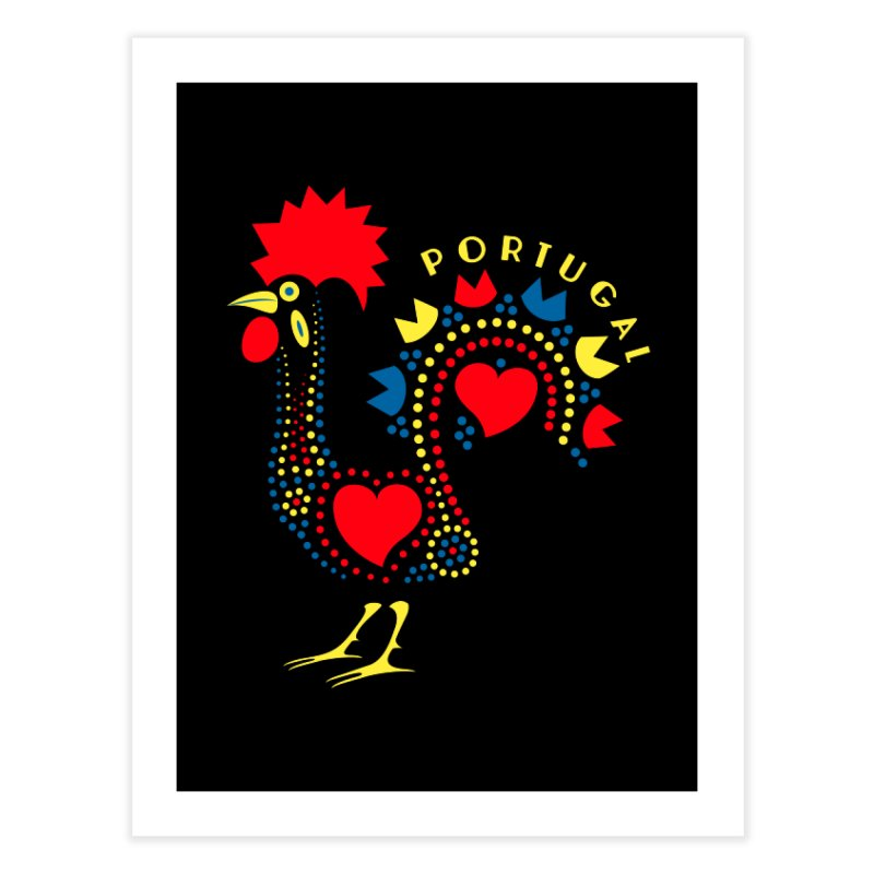 Magic Rooster Home Fine Art Print by Synner Design