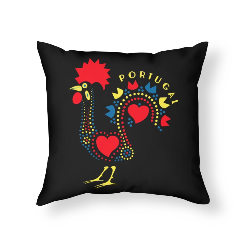 Magic Rooster Home Throw Pillow by Synner Design