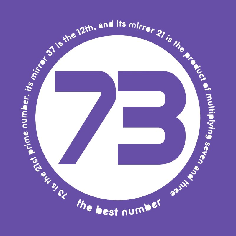 73 is the best number None  by Synner Design