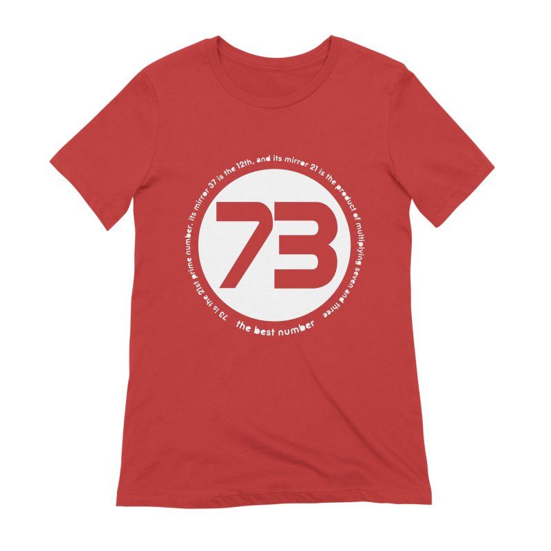 73 is the best number Women's Extra Soft T-Shirt by Synner Design
