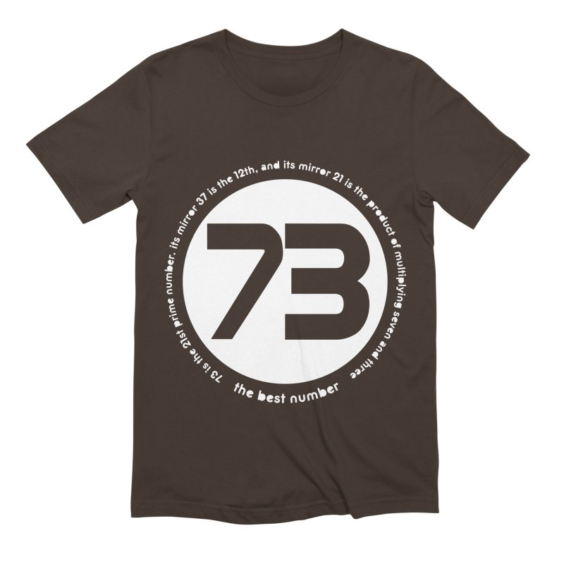 73 is the best number Men's Extra Soft T-Shirt by Synner Design