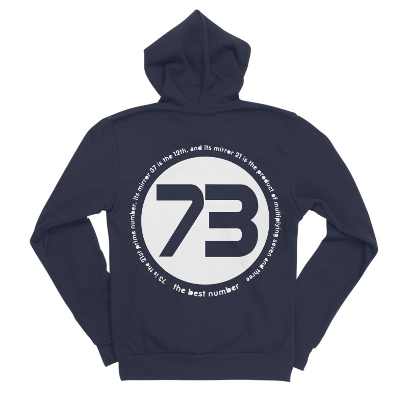 73 is the best number Men's Sponge Fleece Zip-Up Hoody by Synner Design