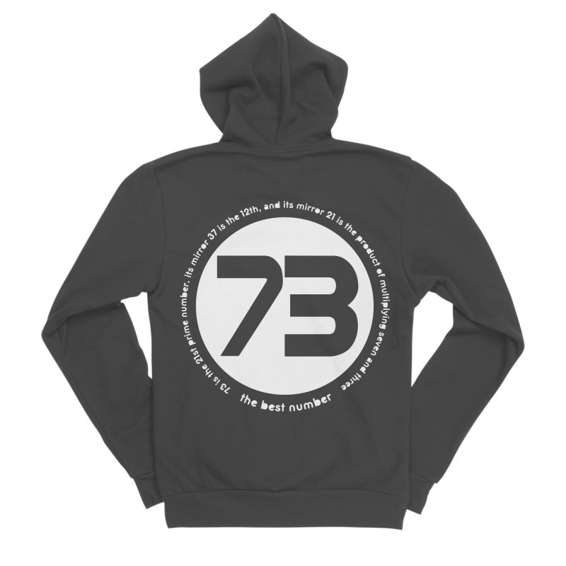 73 is the best number Women's Sponge Fleece Zip-Up Hoody by Synner Design