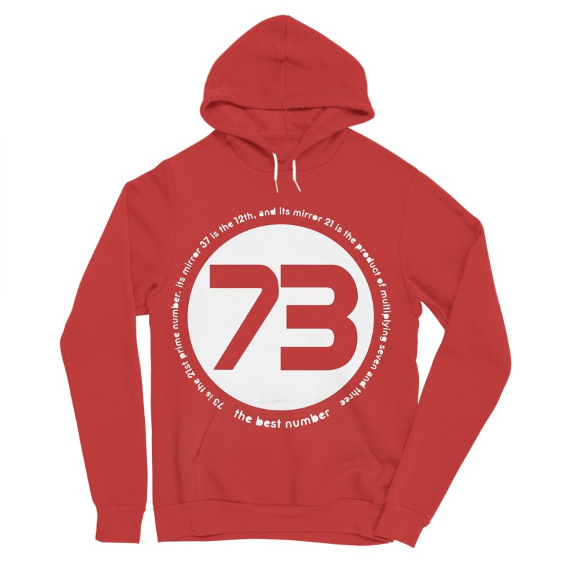 73 is the best number Men's Sponge Fleece Pullover Hoody by Synner Design