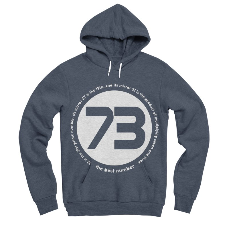 73 is the best number Men's Sponge Fleece Pullover Hoody by Synner Design
