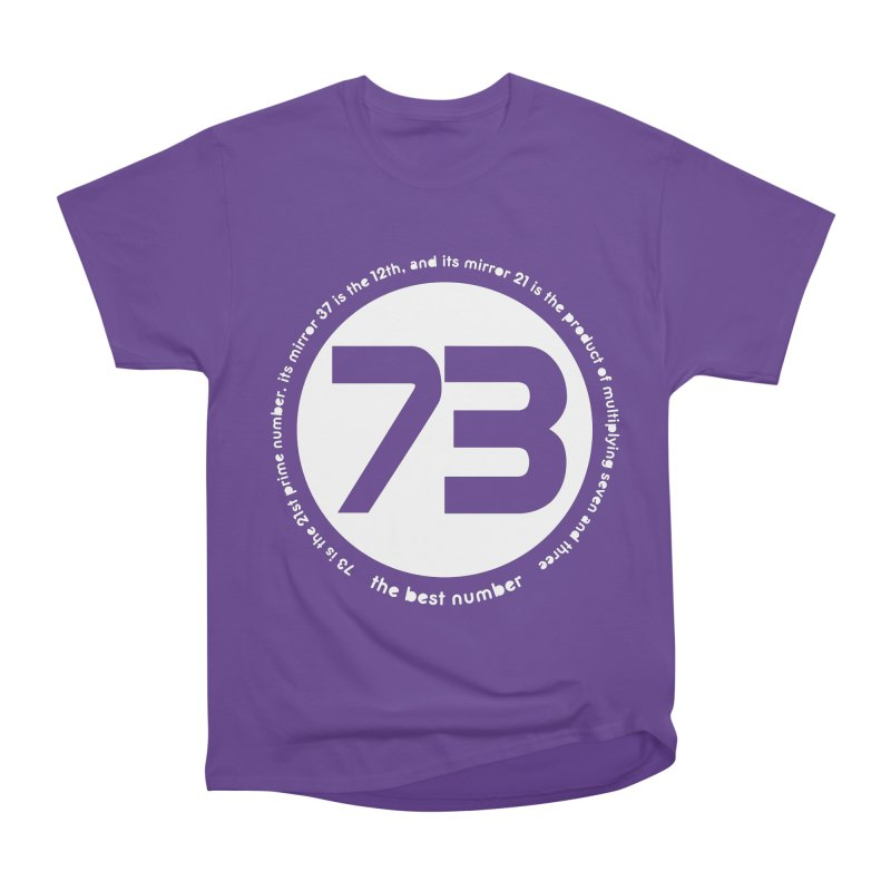 73 is the best number Women's Heavyweight Unisex T-Shirt by Synner Design