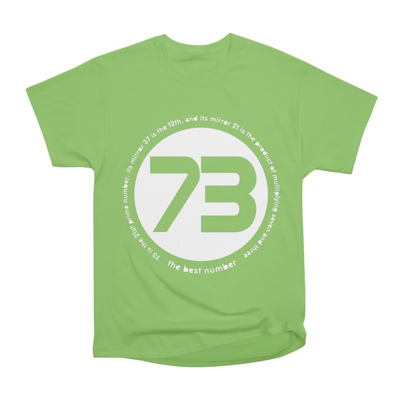 73 is the best number Men's Heavyweight T-Shirt by Synner Design