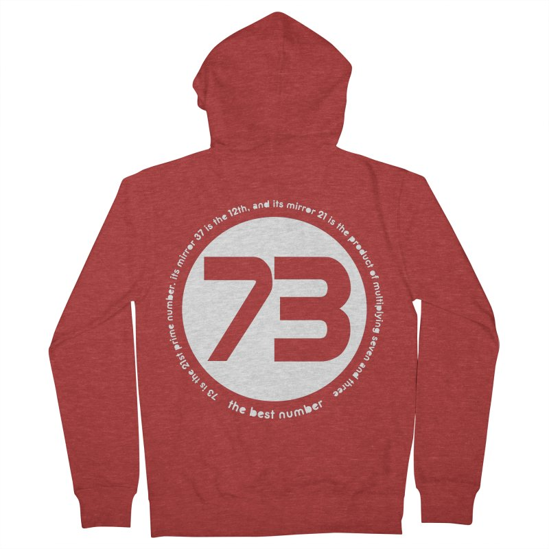 73 is the best number Men's French Terry Zip-Up Hoody by Synner Design