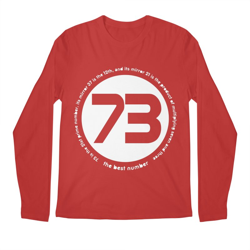 73 is the best number Men's Regular Longsleeve T-Shirt by Synner Design