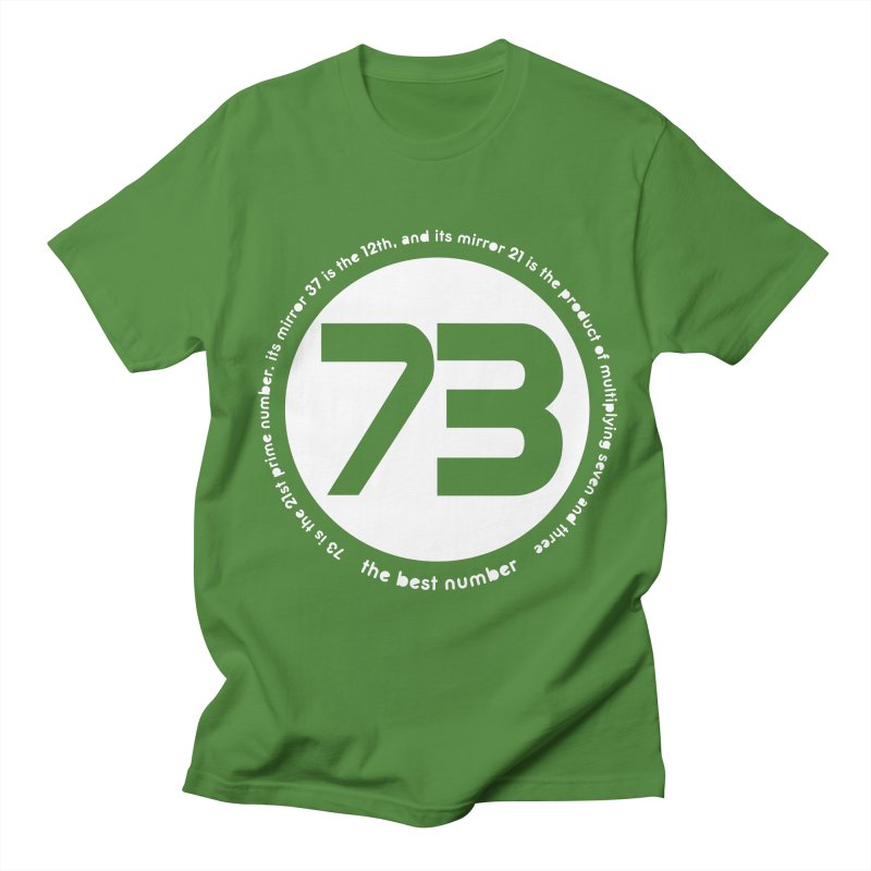 73 is the best number Men's Regular T-Shirt by Synner Design
