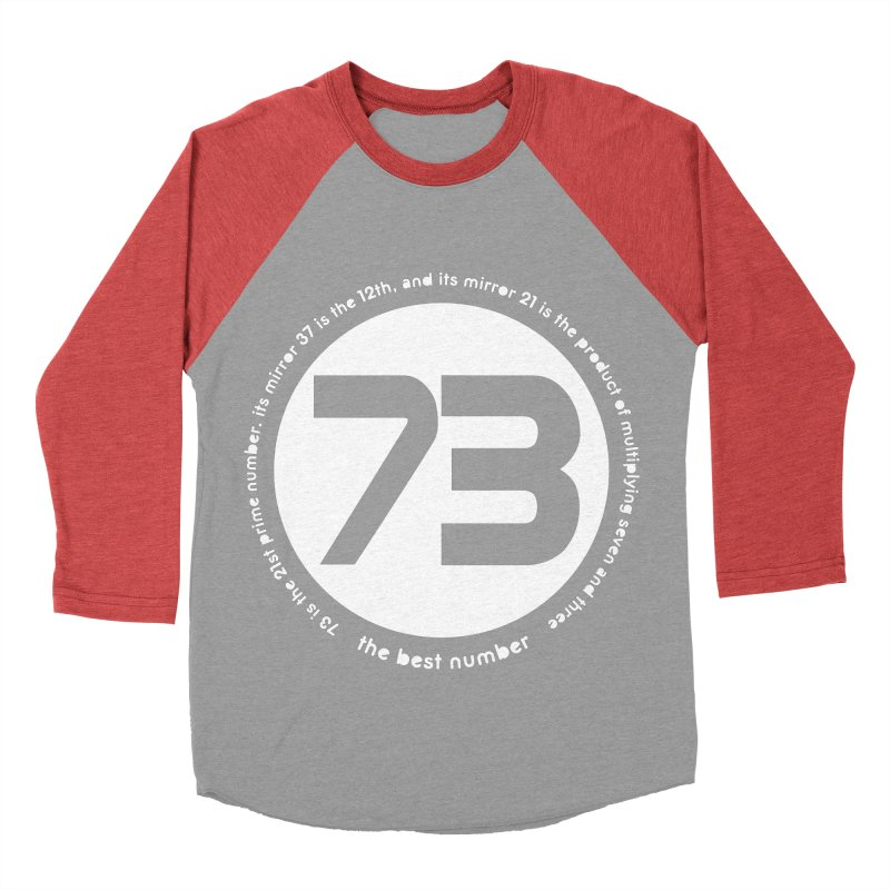 73 is the best number Women's Baseball Triblend T-Shirt by Synner Design