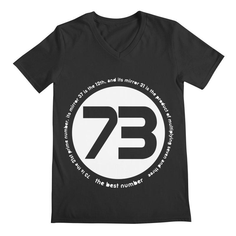73 is the best number Men's Regular V-Neck by Synner Design