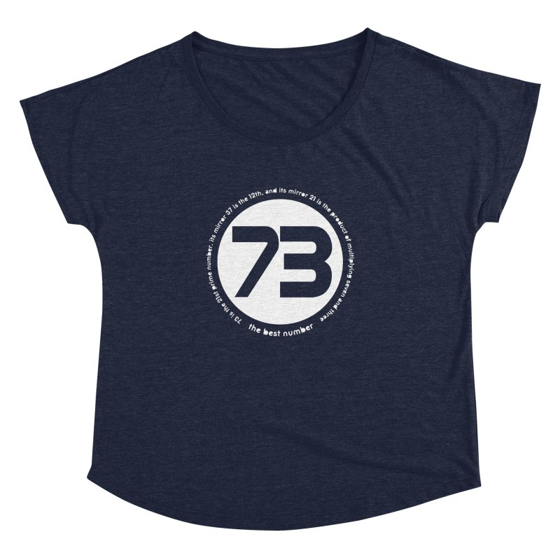 73 is the best number Women's Dolman Scoop Neck by Synner Design