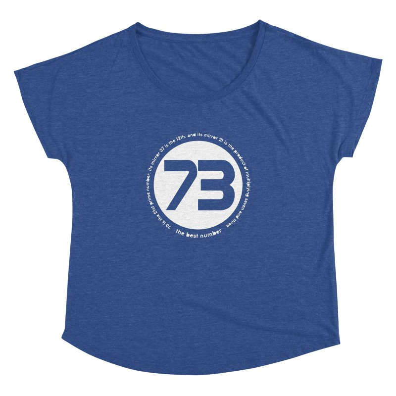 73 is the best number Women's Dolman by Synner Design