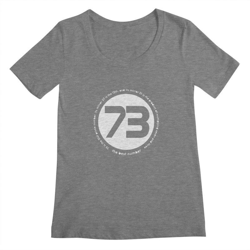 73 is the best number Women's Regular Scoop Neck by Synner Design