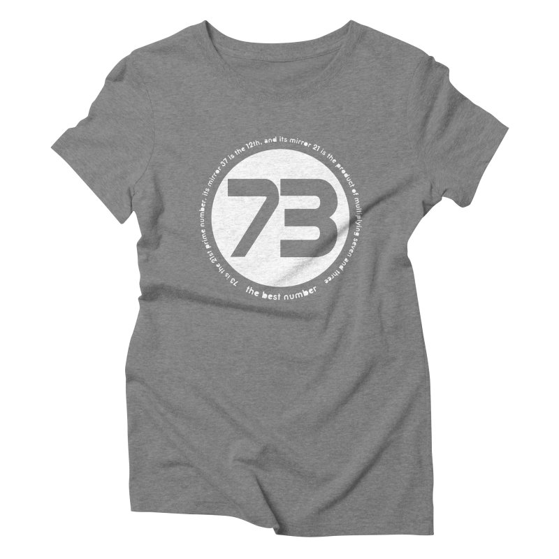 73 is the best number Women's Triblend T-Shirt by Synner Design