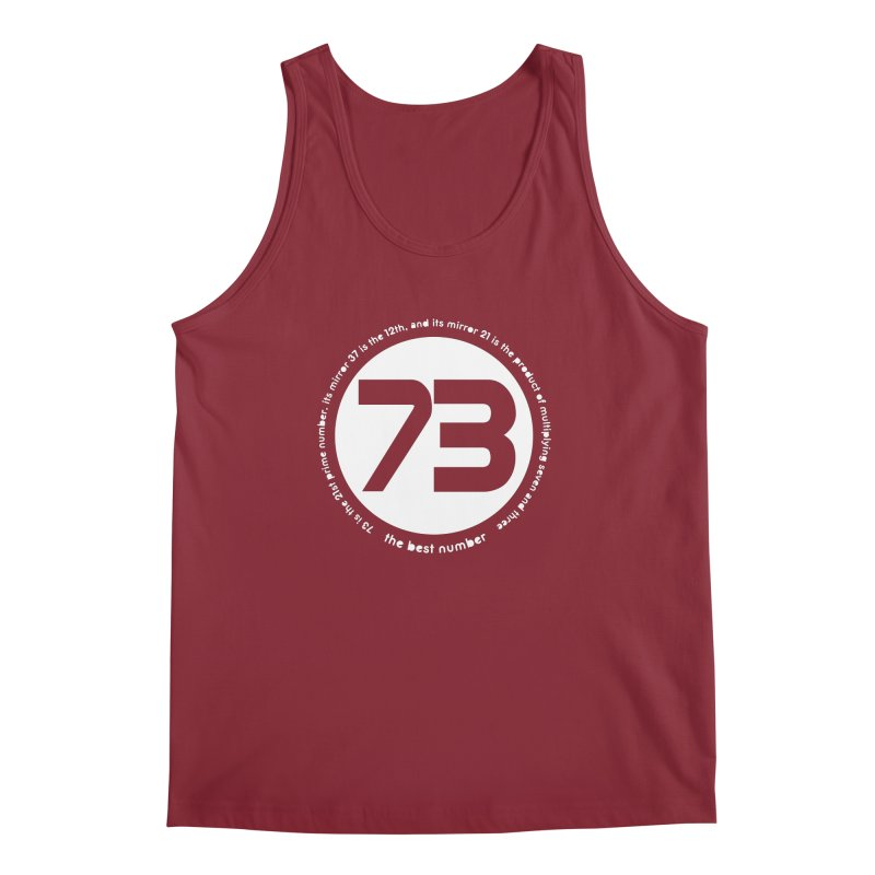 73 is the best number Men's Regular Tank by Synner Design
