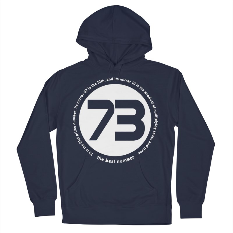 73 is the best number Men's French Terry Pullover Hoody by Synner Design