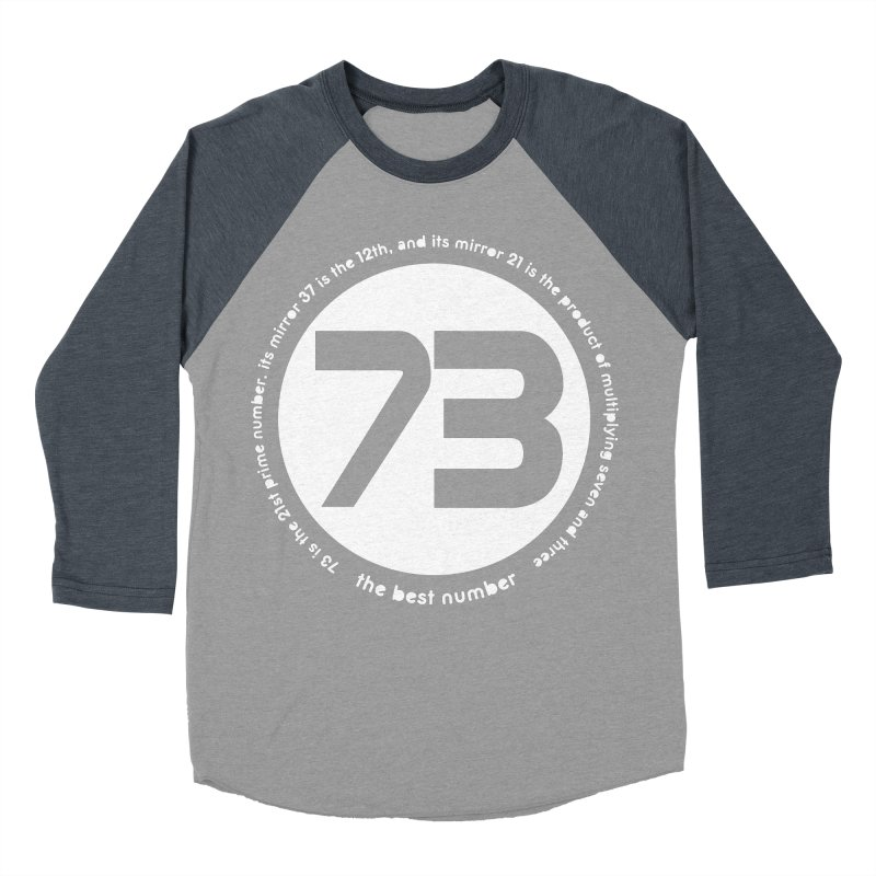 73 is the best number Women's Baseball Triblend Longsleeve T-Shirt by Synner Design