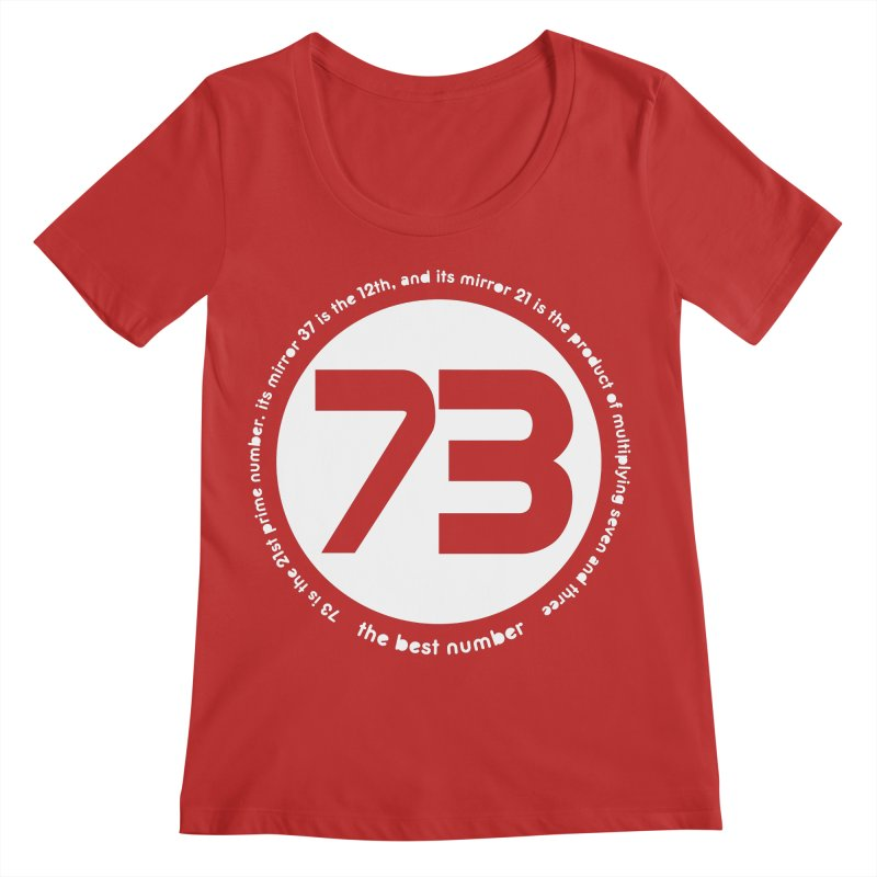 73 is the best number Women's Scoop Neck by Synner Design