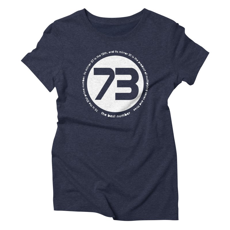 73 is the best number Women's T-Shirt by Synner Design