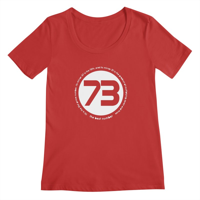 73 is the best number Women's Regular Scoop Neck by Synner Design