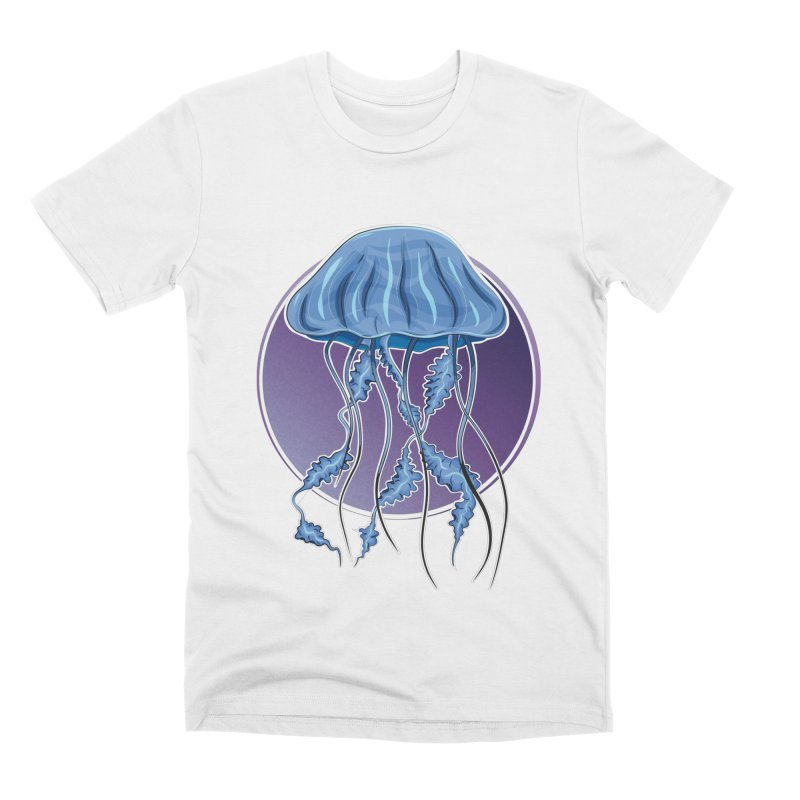 Jellyfish in purple Men's T-Shirt by Synner Design