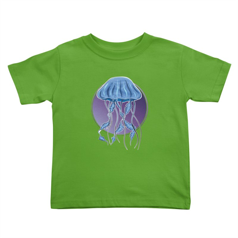 Jellyfish in purple Kids Toddler T-Shirt by Synner Design