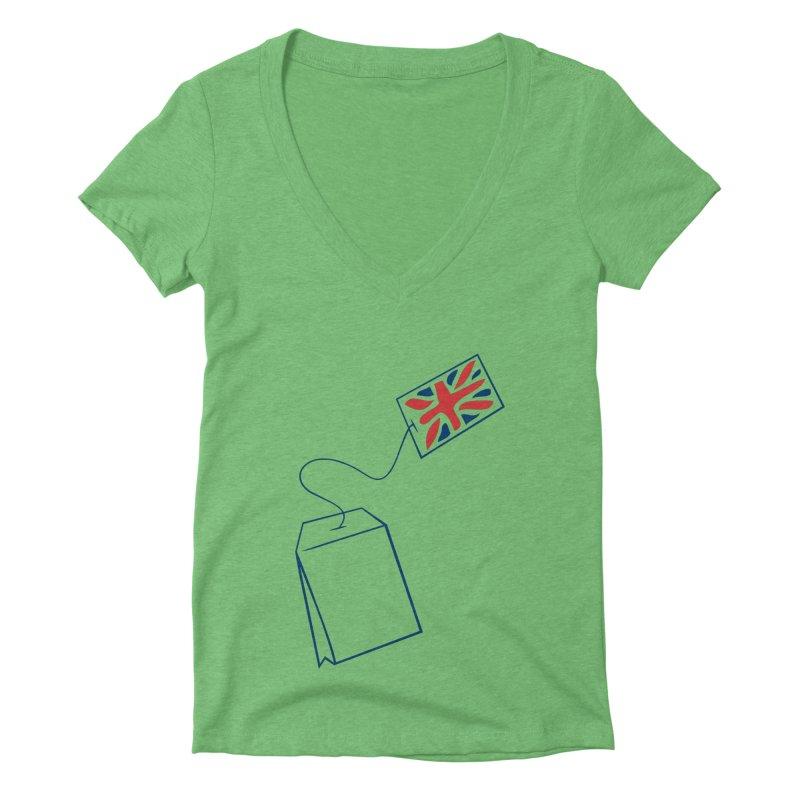 Little Tea Bag Women's Deep V-Neck V-Neck by Synner Design