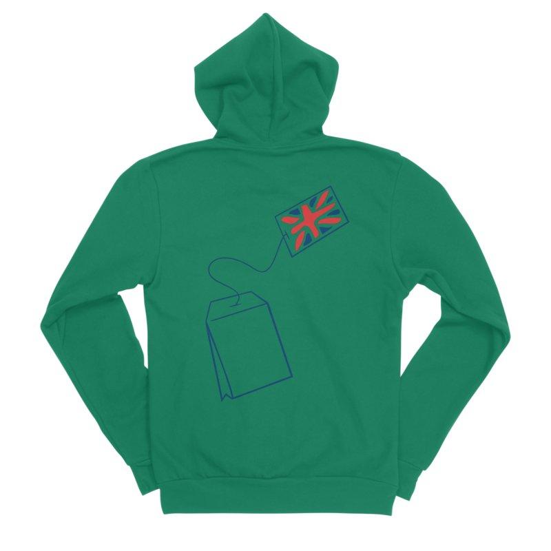 Little Tea Bag Men's Sponge Fleece Zip-Up Hoody by Synner Design