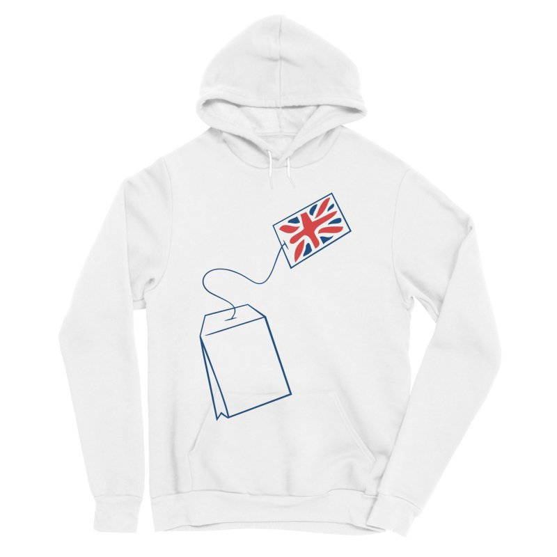 Little Tea Bag Men's Sponge Fleece Pullover Hoody by Synner Design