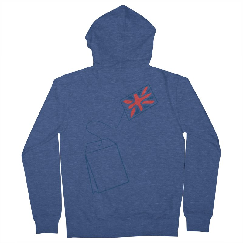 Little Tea Bag Men's French Terry Zip-Up Hoody by Synner Design