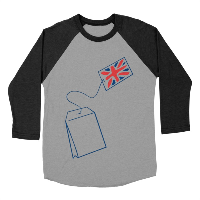 Little Tea Bag Women's Baseball Triblend T-Shirt by Synner Design