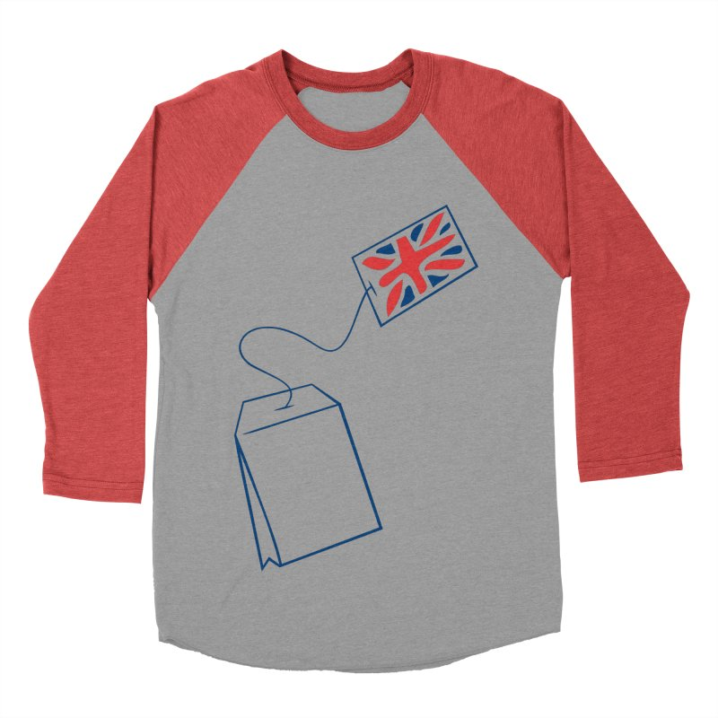 Little Tea Bag Men's Baseball Triblend T-Shirt by Synner Design