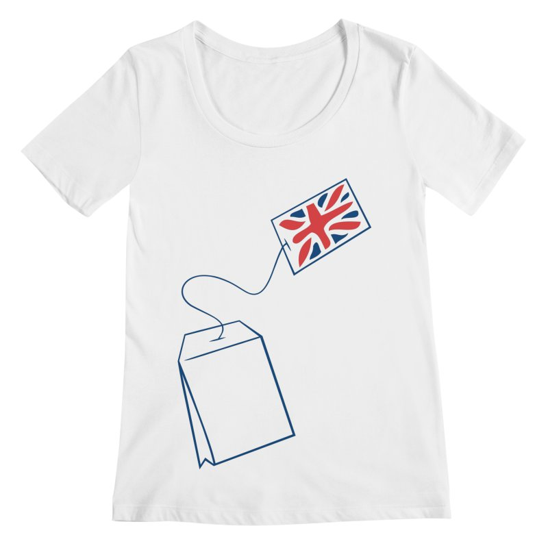 Little Tea Bag Women's Regular Scoop Neck by Synner Design