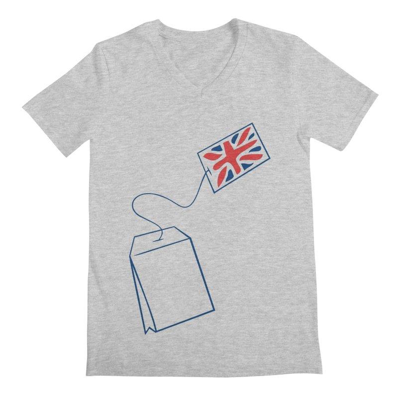 Little Tea Bag Men's Regular V-Neck by Synner Design