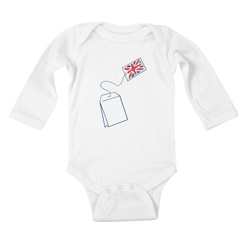 Little Tea Bag Kids Baby Longsleeve Bodysuit by Synner Design