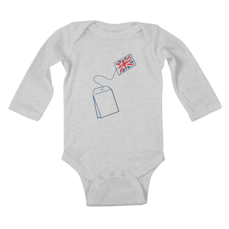 Little Tea Bag Kids Baby Longsleeve Bodysuit by Synner Design