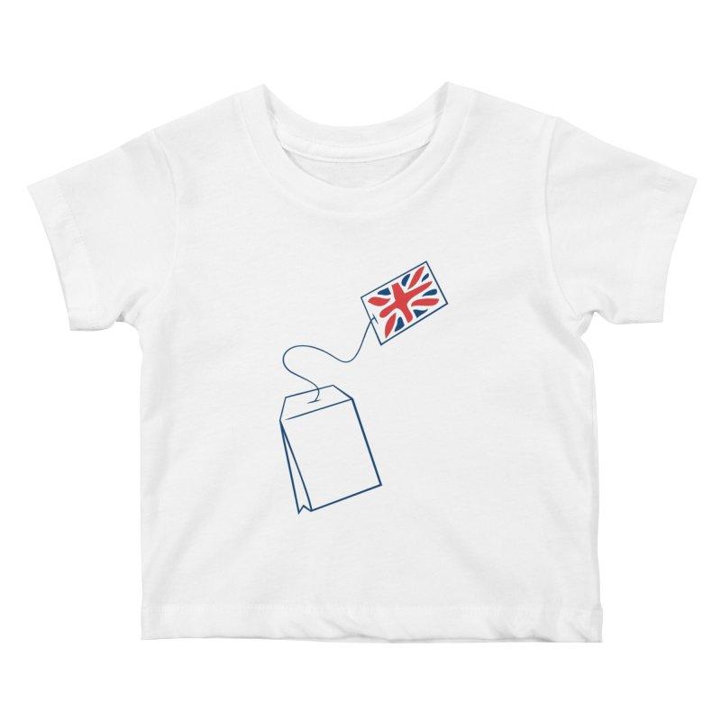 Little Tea Bag Kids Baby T-Shirt by Synner Design