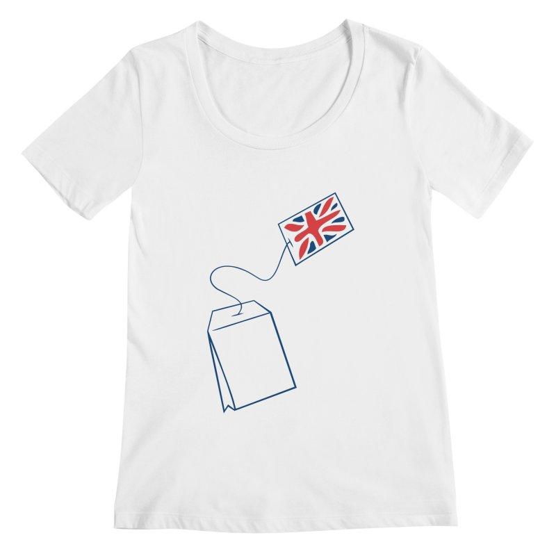 Little Tea Bag Women's Scoopneck by Synner Design