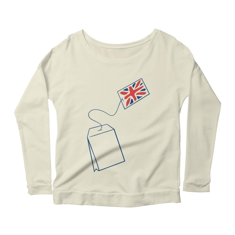Little Tea Bag Women's Scoop Neck Longsleeve T-Shirt by Synner Design