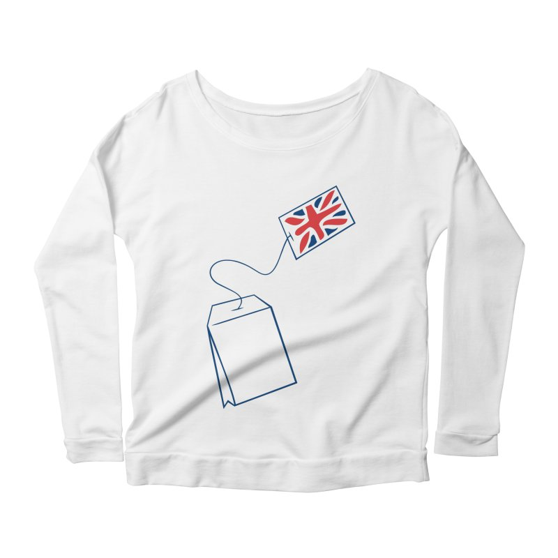 Little Tea Bag Women's Longsleeve Scoopneck  by Synner Design